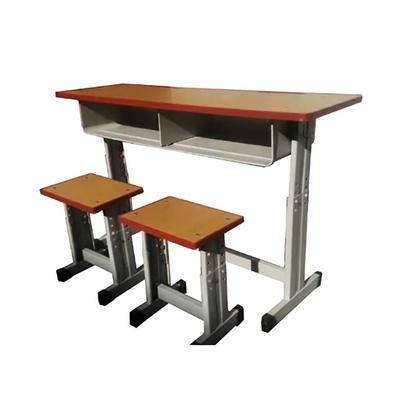 中小学双人单柱单层套管升降课桌凳