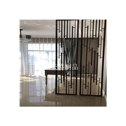 家庭客厅装饰不锈钢屏风供应古铜色不锈钢花格屏风