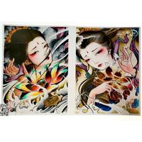当今流行纹身素材,美与文化的传承,艺伎,花旦,花魁