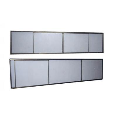 铝合金左右推拉单面白色黑板