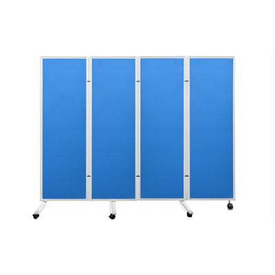 铝合金折叠双面丙纶布面蓝色黑板