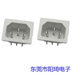白色AC插座-白色PCB板插座-东莞阳琦电子