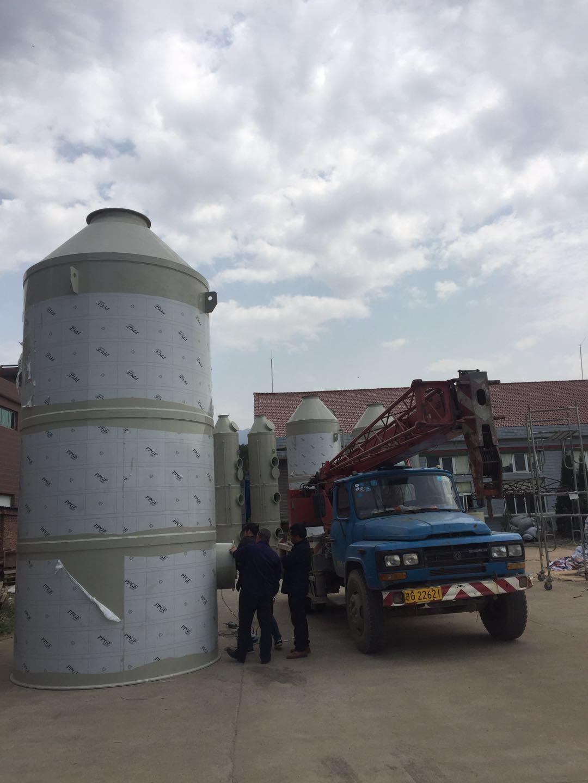 立式PP双层带除雾器喷淋塔