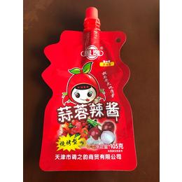 供应黎城县蒜蓉辣酱包装袋-黄豆酱包装袋-自立袋-量大优惠