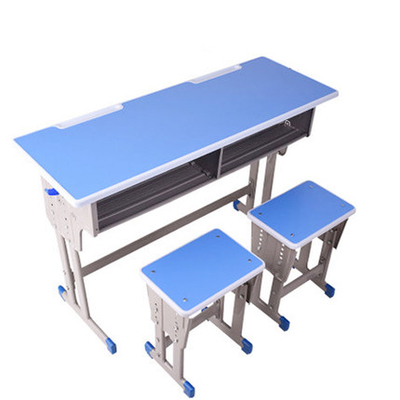 中小学双人双柱外升降课桌凳
