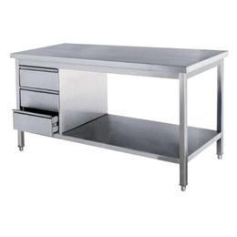 南昌厂家热销不生锈双层厨房工作操作台