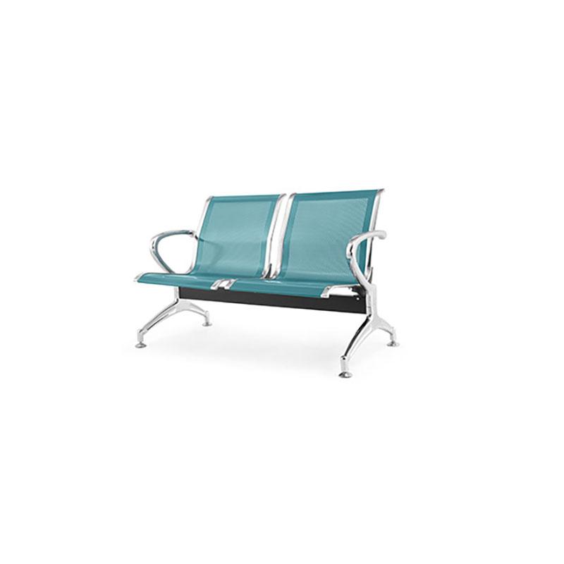 两人电镀镀铬冷轧钢板连排椅