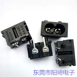 供应ac插座八字两孔8字形AC电源插座卡式插件阻燃电热毯插座