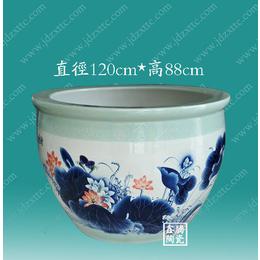 供应手绘青花陶瓷大缸 荷花缸定制价格 鑫腾陶瓷批发