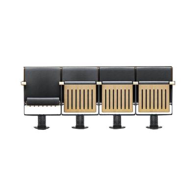 四人钢管皮质连排椅