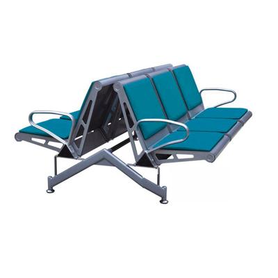 六人钢管PU连排椅
