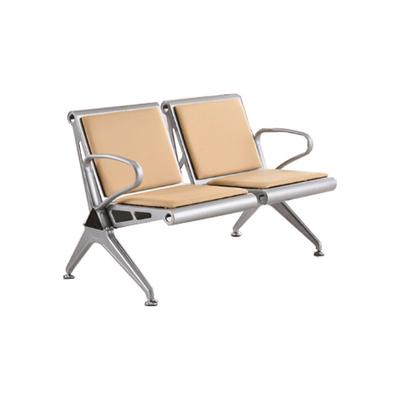 两人铝合金皮质连排椅