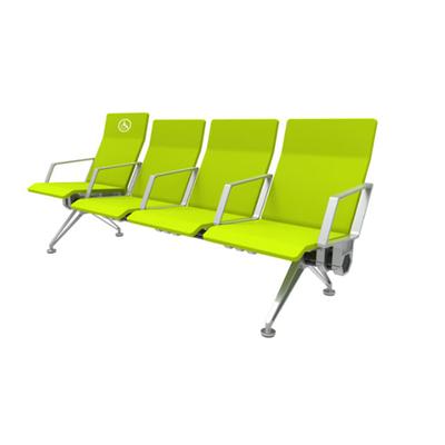 四人铝合金PU连排椅
