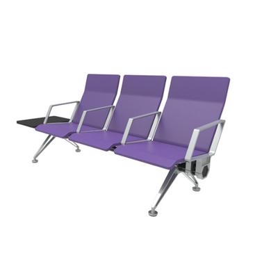 三人铝合金PU连排椅