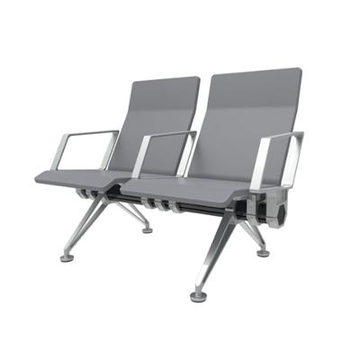 两人铝合金PU连排椅