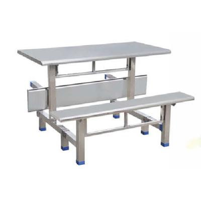 4位不锈钢翻转条凳餐桌