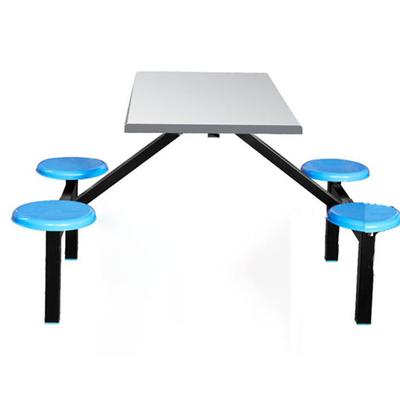 4位玻璃钢固定圆凳餐桌