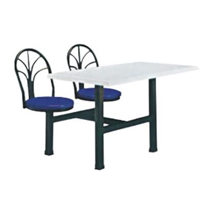 4位不锈钢翻转椅餐桌