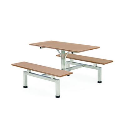 4位多层板固定条凳餐桌