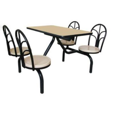 4位多层板固定椅餐桌