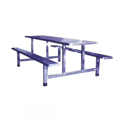 10位不锈钢固定条凳餐桌