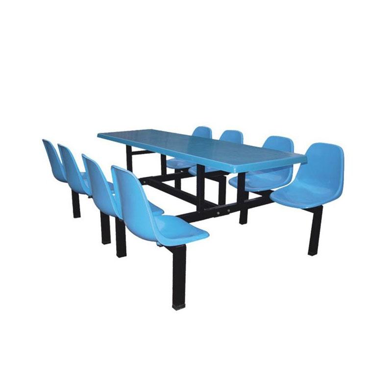 8位塑料固定椅餐桌