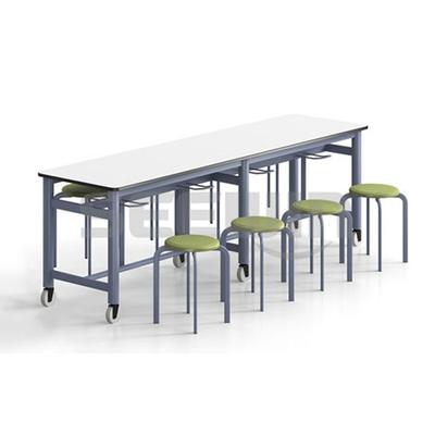 8位多层板移动圆凳餐桌