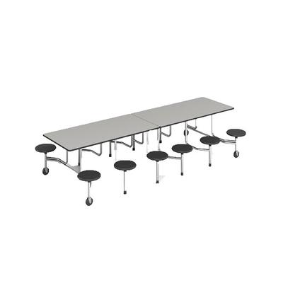 12位多层板折叠圆凳餐桌