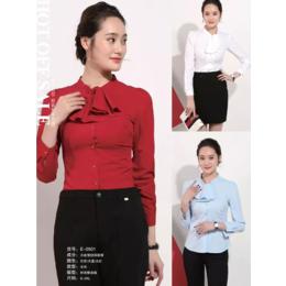 酒红时尚衬衫长袖 女式衬衫