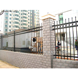 山西太原锌钢护栏 围墙护栏 小区院墙护栏供应