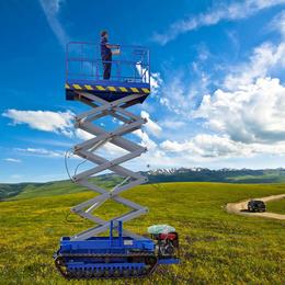 履帶升降機 特殊設計全自動行走升降車 液壓升降平臺 舉升機