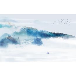中国风蓝色水墨山水电视瓷板挂画缩略图