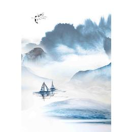 销售水墨中国风山水装瓷板饰画