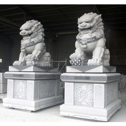 武汉石狮子厂家_武汉明石花岗岩石狮现货