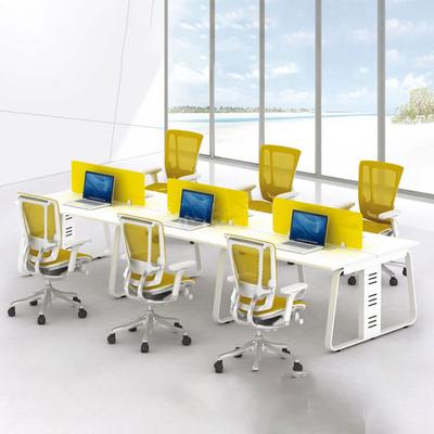多人位塑料屏风办公桌