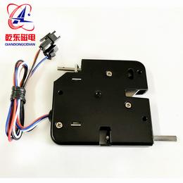 热销电磁锁防盗型电控锁带推杆反馈智能柜电磁锁亚博国际版