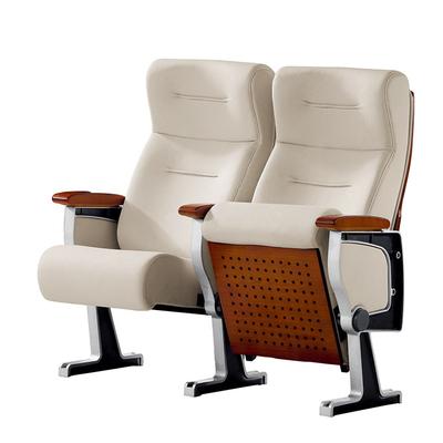 弹簧+阻尼PU定型棉无写字板铝合金会议椅1