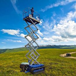 履带升降机 液压驱动升降平台 8米全自动升降车 液压举升机
