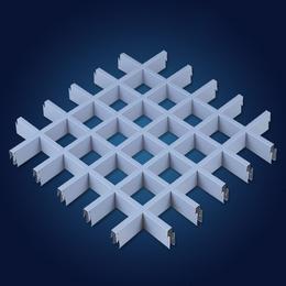 福建宁德铝格栅 白色铝格栅天花 喷粉铝格栅