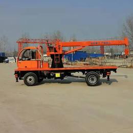 供应6吨新款四驱拖拉机平板吊农用四不像移树吊矿用起重机