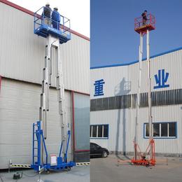 12米双柱铝合金升降平台液压升降机高空作业平台缩略图