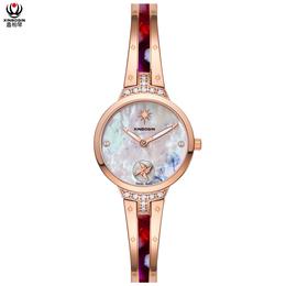 鑫柏琴设计工厂小订单树脂镶钻饰品女款手表受欢迎平安国际