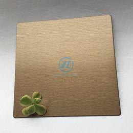 佛山厂家建筑装饰拉丝香槟金不锈钢板 镀香槟金拉丝装饰板缩略图