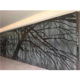 穿孔铝墙面装饰孔板形状-墙面装饰孔板-润吉金属(图)