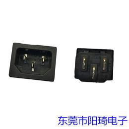 卡式4.8端子AC电源插座-电脑专用品字型插座-宜春三芯公座