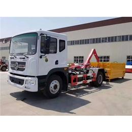 國六新款勾臂式污泥運輸車  拉運15噸20噸污泥清理車的價格