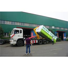 東風牌拉運15立方勾臂式垃圾處理車的車輛型號
