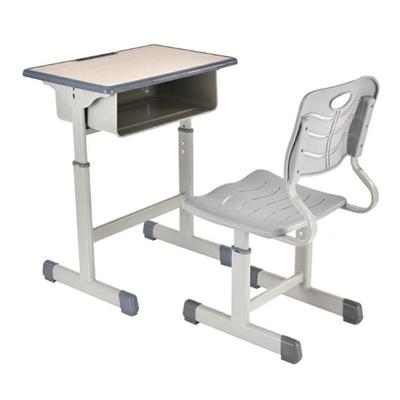 中小学生课桌单人单柱套管升降课桌椅