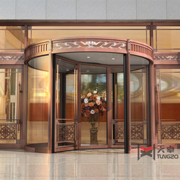 陕西西安纯铜三翼酒店旋转门带展台