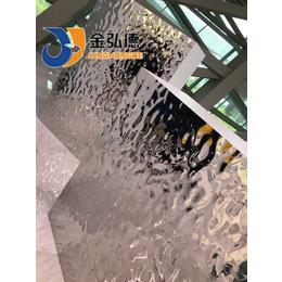 武冈彩色不锈钢板激动加工生产水波纹装饰板材